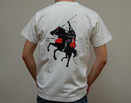 織田信長デザインTシャツ背面