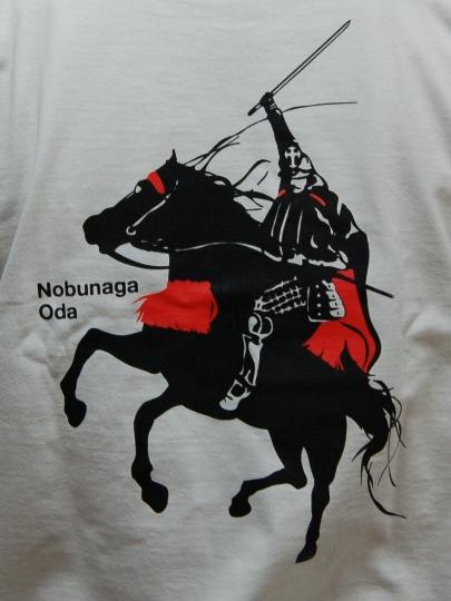 織田信長デザインTシャツ背面デザイン