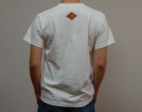 武田信玄Tシャツ背面(ホワイト)
